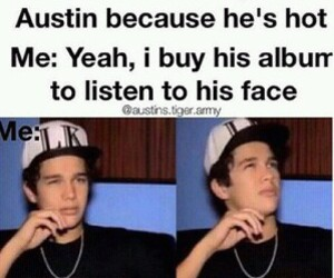 austin mahone, funny, and mahomies image
