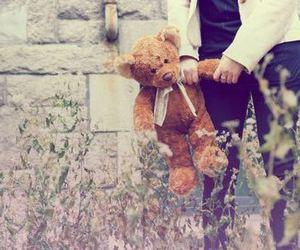 bear, teddybear, and girl image