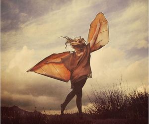 girl and wings image