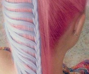 dyed hair, hair, and pink hair image