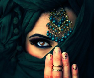 arabic, eyes, and hijab image