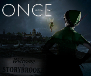 once upon a time, peter pan, and neverland image