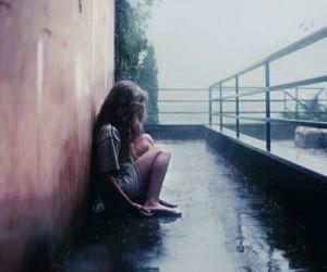 girl, alone, and rain image