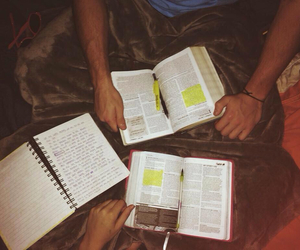 goals, bible, and couple image