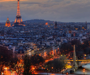 beautiful, eiffel tower, and city lights image