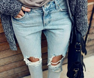 jeans, look, and calça image