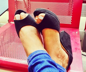 black shoes, high heels, and shoes image