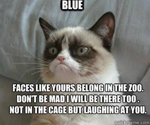 blue, laughing, and roses image