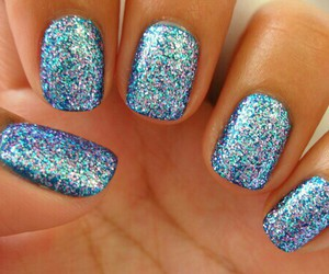 nails, perfect, and sparkle in so cal image