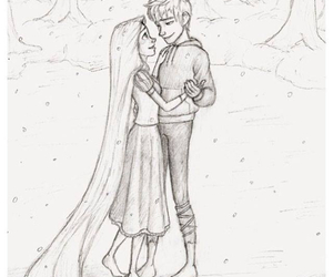 jack frost, rapunzel, and love image