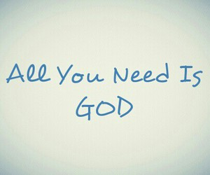 god, peace, and pray image