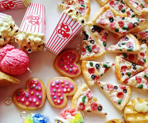 Cookies, pizza, and miniature image