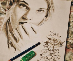 Jamie Campbell Bower and drawing image