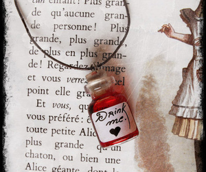 alice, alice in wonderland, and drink me image