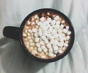 marshmallow, chocolate, and hot chocolate image