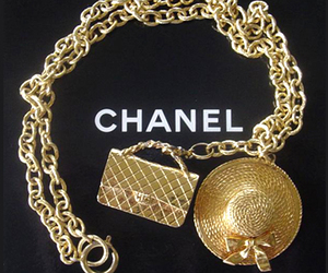 chanel, gold, and hat image