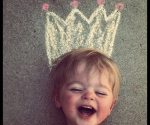 baby, smile, and king image