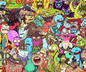 adult swim, monsters, and rick and morty image