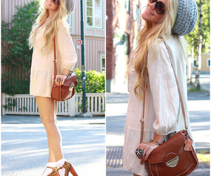 blonde, fashion, and heels image