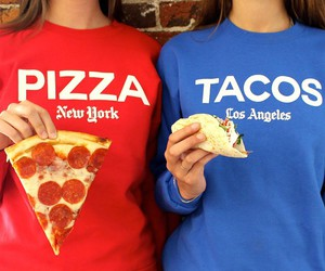 pizza, food, and tacos image