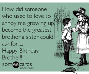 birthday, ecards, and brother image