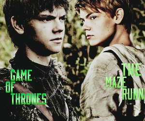 newt, game of thrones, and the maze runner image