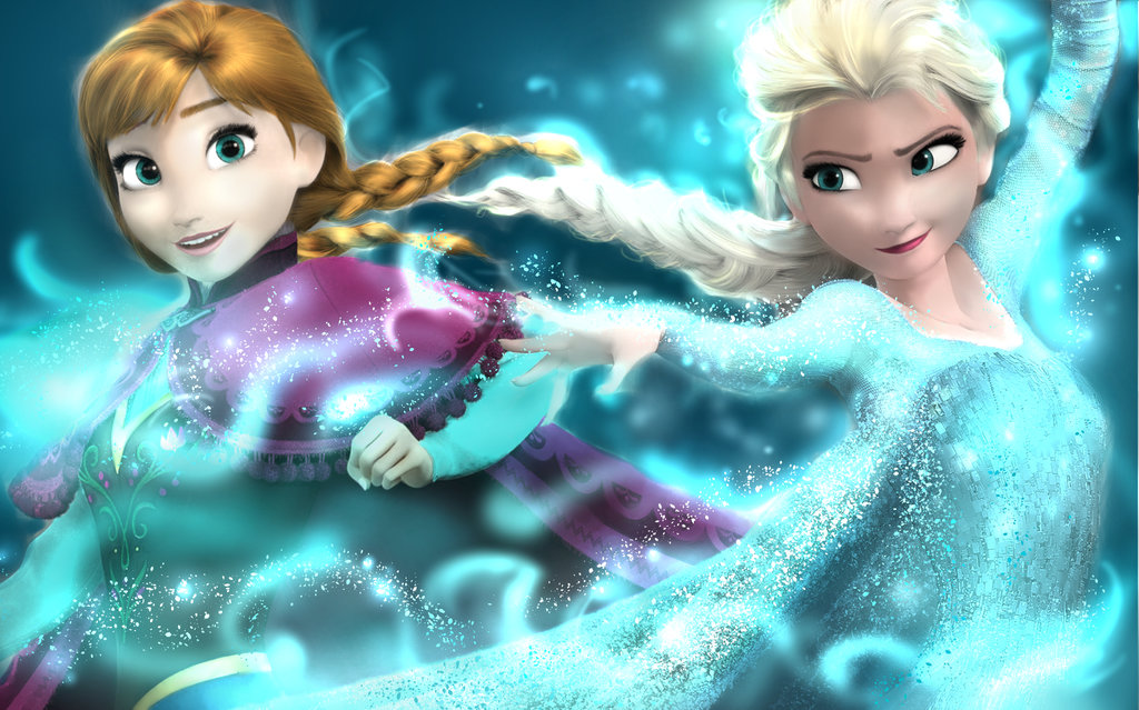 elsa and anna uploadeddlinku animes on we heart it