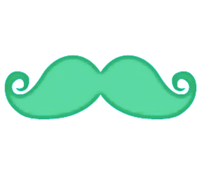 mustache and cute image