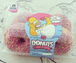 donuts, omnomnom, and simpsons image