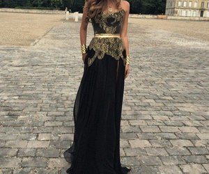 dress, black, and gold image
