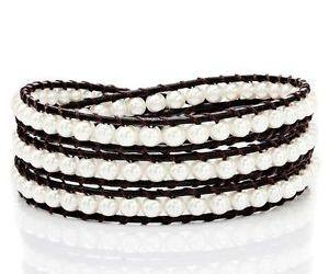 handmade bracelet, bead bracelet, and leather bracelet image