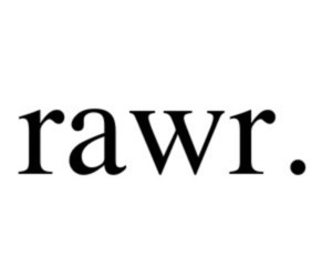 rawr, text, and quote image