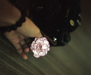 flower, grunge, and hand image