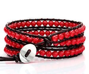 wrap bracelet, handmade bracelet, and leather bracelet image