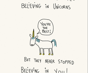 unicorn, believe, and quotes image