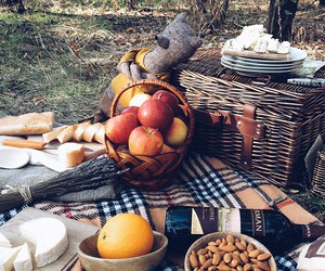 apple, picnic, and autumn image