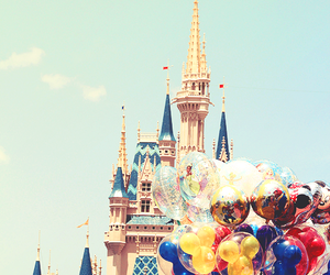 disney, disneyland, and balloons image