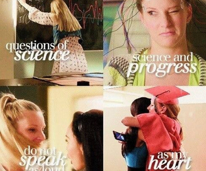 glee, the scientist, and naya rivera image