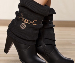 ankleboots, black, and boots image