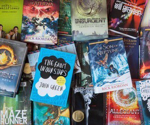 book, divergent, and the fault in our stars image