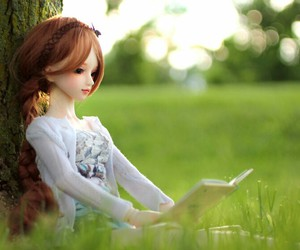 bjd, girl, and nature image