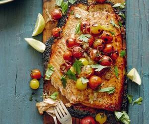 food, salmon, and eat image