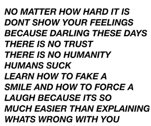 quotes, sad, and humanity image