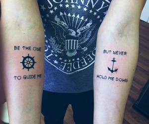 anchor, arm tattoo, and ramones image