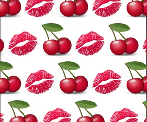 backround, kisses, and cherry image