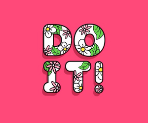 pink, wallpaper, and do it image