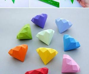 diy, diamond, and origami image