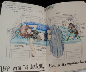 wreck this journal, drawing, and journal image