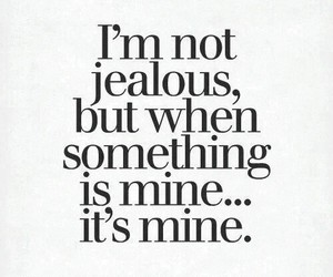 jealous, quotes, and mine image