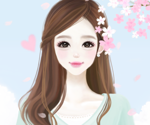 A Beautiful Cartoon Girl Face 244 images about Enake...